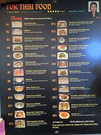 Tok Thai Food Glennallen Restaurant Reviews Phone