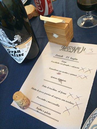 Hotel Citara : Меню на ужин