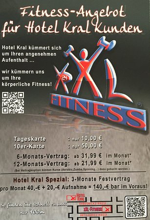 XXL- FITNESS , next to Hotel KRAL