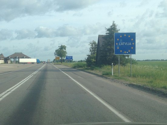 Pasvalieciai, Lithuania: Граница в 100 метрах от отеля
