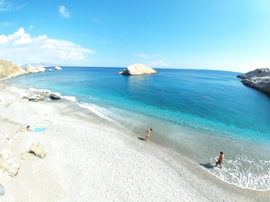 Folegandros, Greece: Katergo beach by drone!