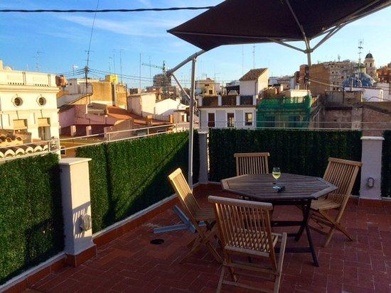 Valenciaflats Mercado Central: Private terrace
