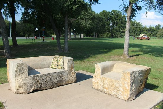 "Lampasas, TX: The sculptured ""couch"""