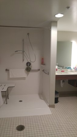Duncansville, PA: Accessible roll-in shower. Plenty of space.