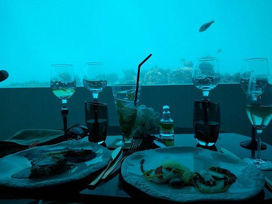 Atolón sur de Malé: Fine Dining at the Underwater Restaurant!