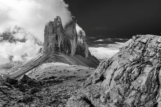 Tre Cime di Lavaredo: Le tre cime viste dalla Forcella LAvaredo