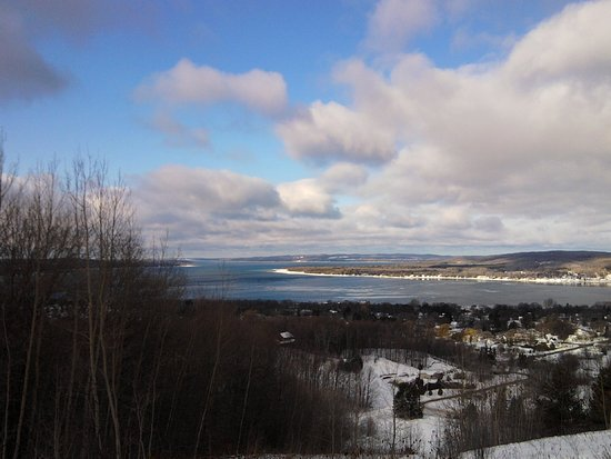 Boyne City, MI: Overlook during winter