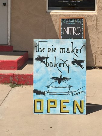 The Pie Maker Bakery: Cute Sign to lure you in!!