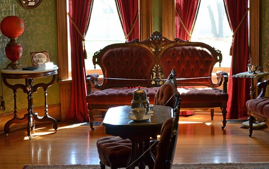 Kokomo, IN: Parlor of Seiberling Mansion