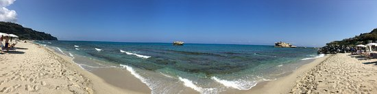 Santa Domenica, Italie : Panorama vom Strandhotel aus in Richtung Meer