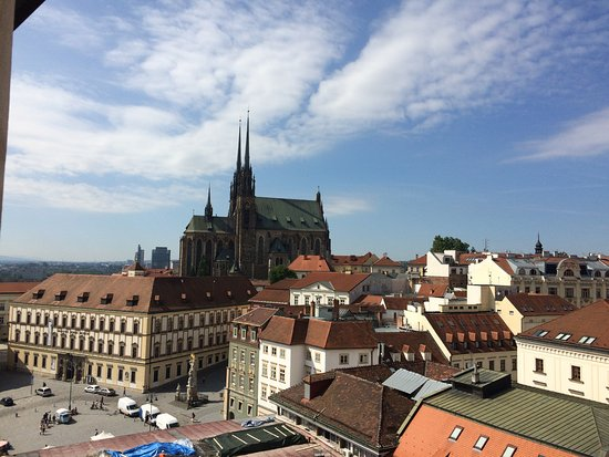 Brno, República Tcheca: Вид с башни на город