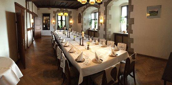 Hotel Burg Colmberg: Speisesaal Ritteressen