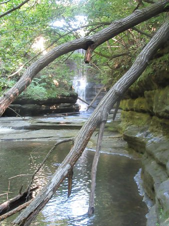 Matthiessen State Park: The larger falls from the lower trail