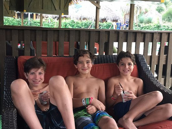 Schlitterbahn New Braunfels Waterpark: Enjoying dipping dots after the lazy river!