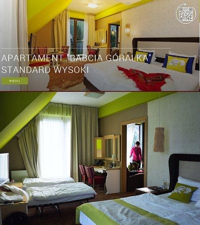 Hotel Piwniczna SPA & Conference: Apartament Babci Góralki - zdjęcie górne z hotelowej oferty , na dole kolorystyka rzeczywista