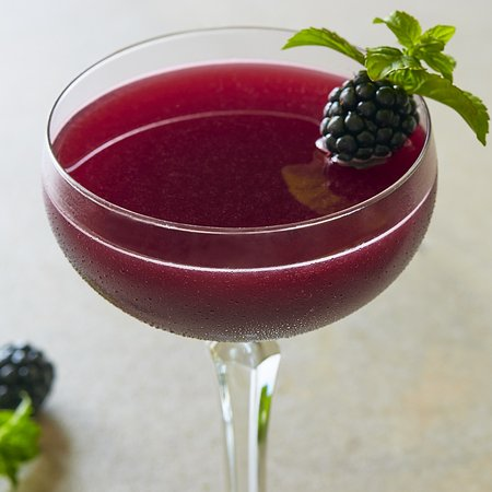 Fogo de Chao Brazilian Steakhouse: Blackberry Azedo: Muddled fresh blackberries, mint, Hendrick's Gin crème de cassis & lime sour