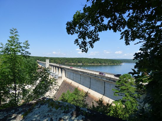 Over look at Greers Ferry Dam