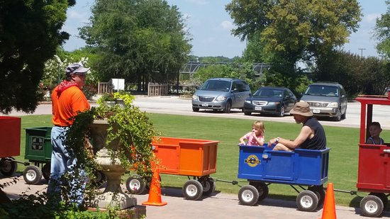 Weatherford, TX: the trackless train was very fun!