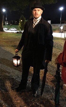 Greensboro, Karolina Północna: Dan Riedel our tour guide at Hamburger Square
