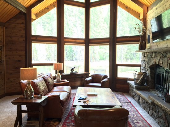 Darby, MT: The Living Room at the Riverside Cabin
