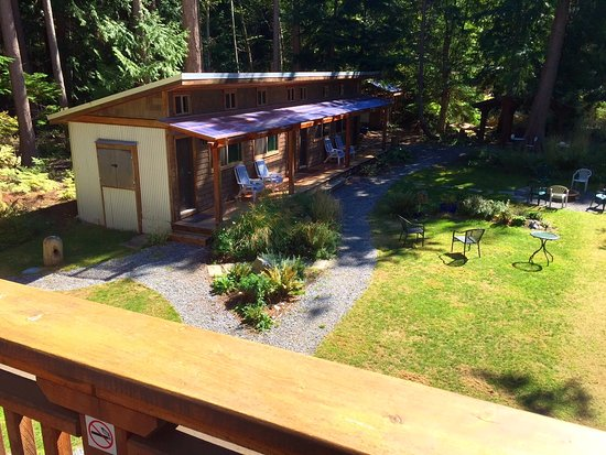 Savary Island, Canada: View of bunkhouse and grounds from the luxury suite
