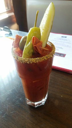 Plymouth, NH: Pretty fancy Bloody Mary, tasty too!