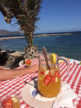 Xaloc : This is were we both went after having a swim most days. Marguerite served the best Sangria I ha