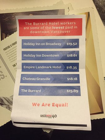 The Burrard: This was the pamphlet put under the door