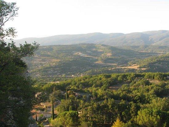 La maison de Solveig : view from the village of Saignon