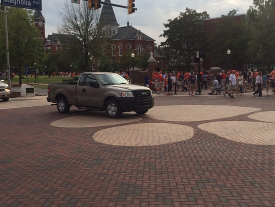 Auburn, AL: The big tiger paw at Toomer's Corner