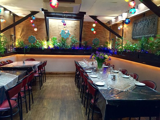 The cosy little secret garden at Mohsen Restaurant W14