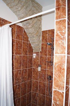 St Olav Hotel: Shower in bathroom