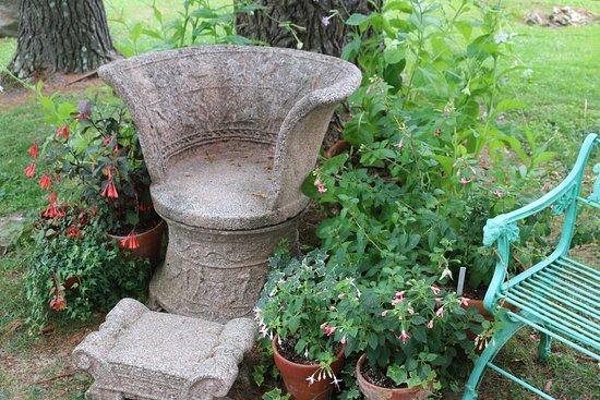 Berkshire Botanical Garden: one of the garden bench displays