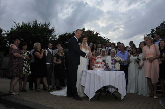 Great Totham, UK: Cutting the cake