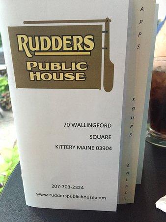 Kittery, ME: The menu