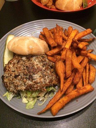 BrewBurger's Pub and Grill: Churkey Burger and Sweet Potato Fries
