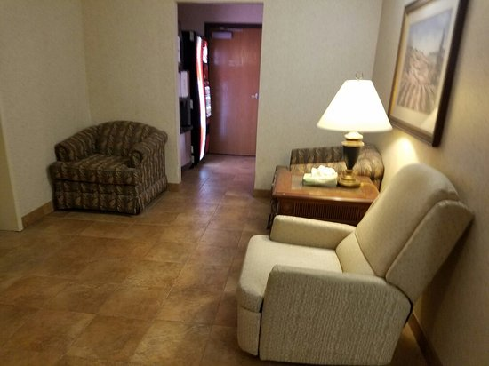 Colfax, IA: From the hallway & sitting Area  to your room / in room all is very quiet cozy & clean