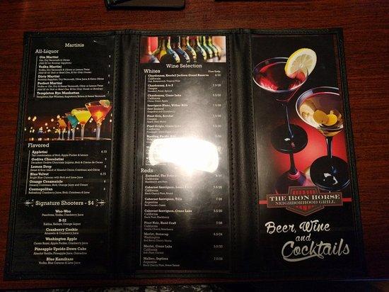 Osceola, IA: Inside and drink menu