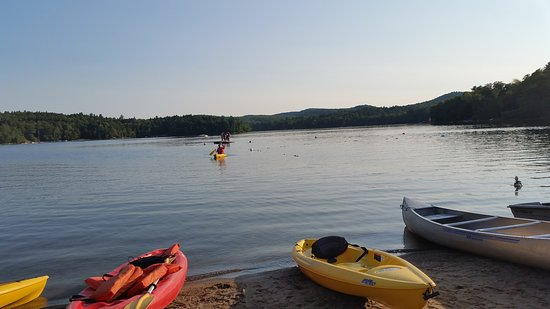 Twin Pines onTrout Lake: All of these boats are available for any resort patrons to use. Kayaking was great!