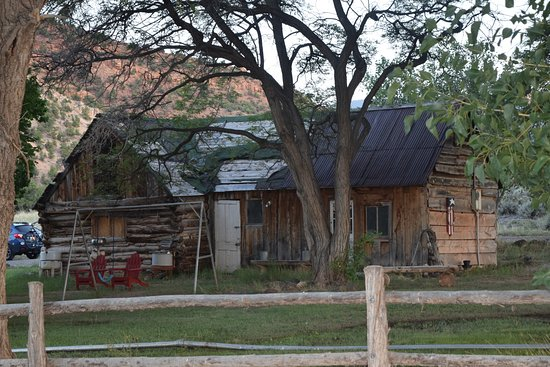 Cowboy Homestead Cabins: This is an original building from when ranch first built.
