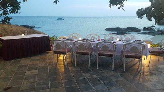 Minang Cove Resort: Romantic dinner