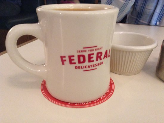 Federal Delicatessen: Cool Coffee Mugs For Their Bottomless Cups Of Coffee