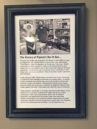 Pigman's Bar-B-Que: wall story plaque