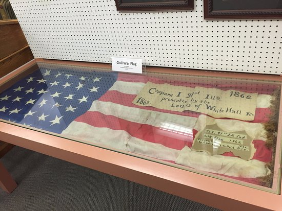 Vermilion County War Museum: A flag from 1862