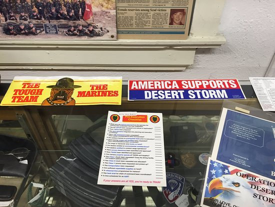 Vermilion County War Museum: part of the Desert Strom exhibit