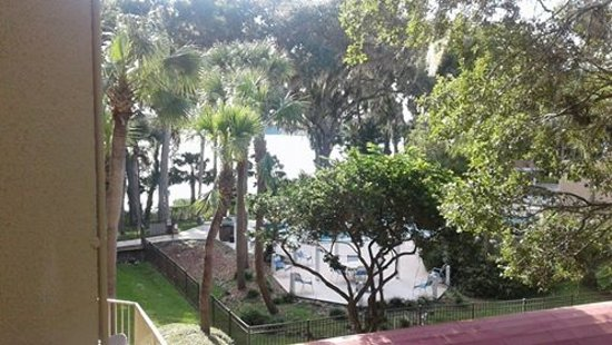 View Of Pool And Lake From Room Balcony Picture Of Wyndham Garden Gainesville Gainesville