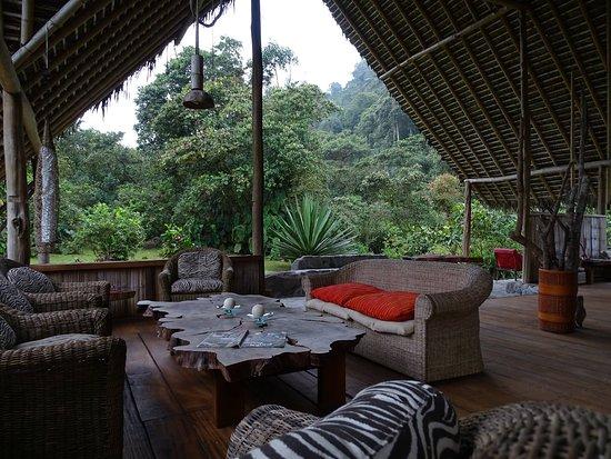 El Monte Sustainable Lodge: Vista de la Entrada