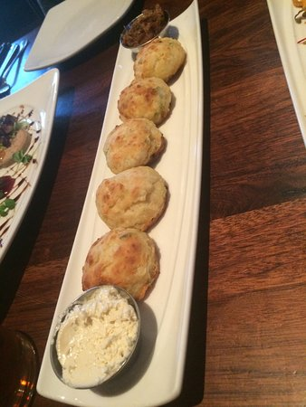 Shady Lady Saloon: Biscuits with bacon jam and smoked butter