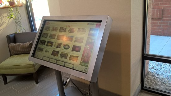 Ramada Canton/Hall of Fame: Smartscreen to research local attractions/restaurants...