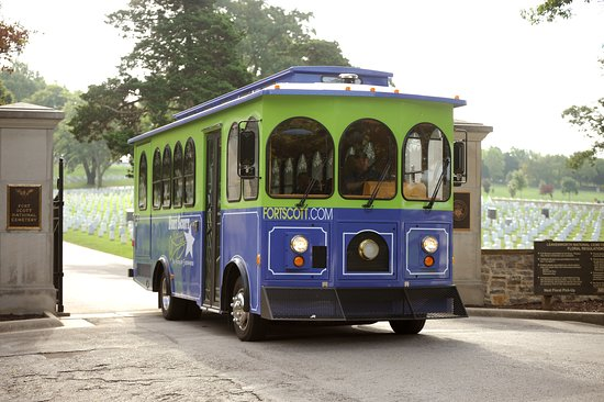 Fort Scott Trolley at National Cemetery No. 1 est. 1862